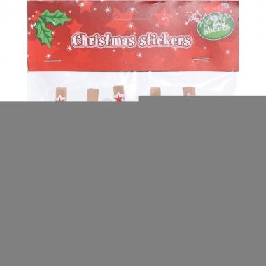 10x houten kerst knijpers kerstman/kerstboom met koord