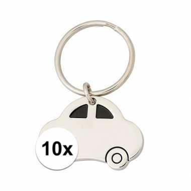 Feest 10x nieuwe auto sleutelhangers
