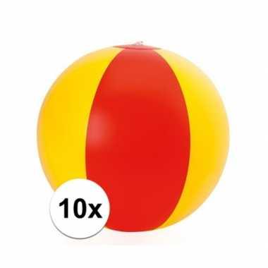 10x opblaasbare spanje strandbal
