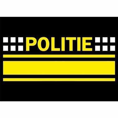 10x politie logo sticker 7.5 x 10 cm