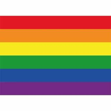 10x regenboog vlag / lgbt vlag sticker 7.5 x 10 cm