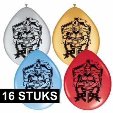 16x ridder thema ballonnen