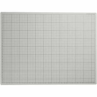 1x grijze hobby snijmat 45 x 60 cm a2 formaat