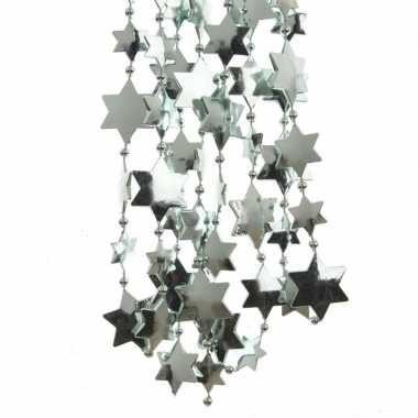 Feest 2x mintgroene kerstversiering ster kralenslinger 270 cm