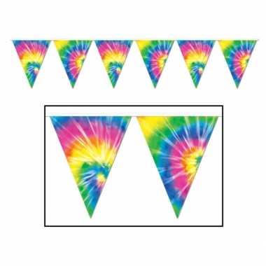 2x stuks hippie sixities vlaggenlijnen