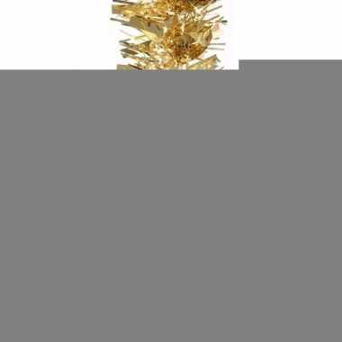 3x kerstboom folie slinger goud 200 cm