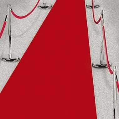 3x rode lopers van 4,5 meter