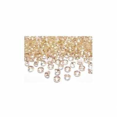 Feest 50x steentjes goud 2 cm