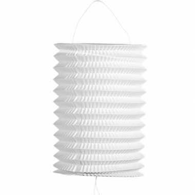 Feest 5x stuks witte trek lampionnen van 16 cm