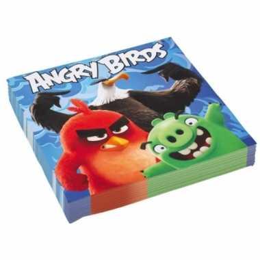 Feest angry birds servetten 20 stuks