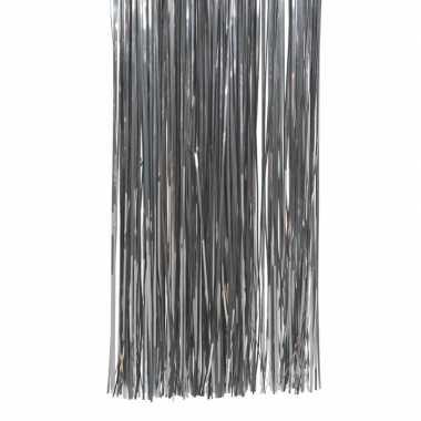 Antraciet kerstversiering folie slierten 50 cm