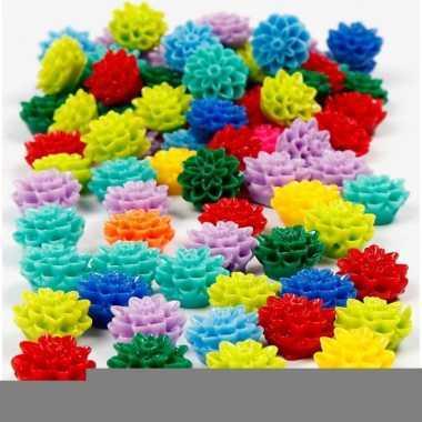 Feest armbandkralen bloem 250 stuks
