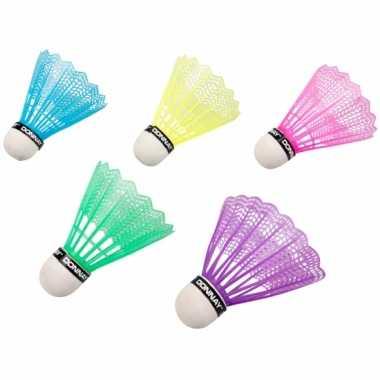 Feest badminton speel shuttles gekleurd