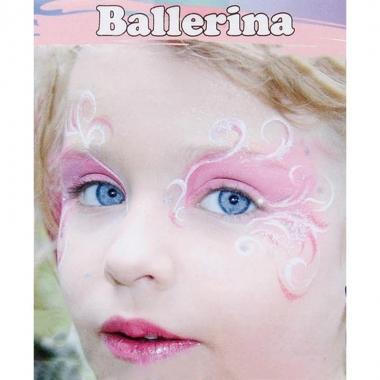 Feest ballerina schminken schminkset 6 delig