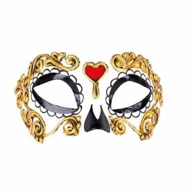 Feest barok oogmasker day of the dead