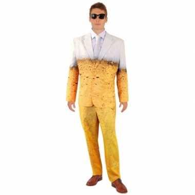 Bier thema print heren kostuum