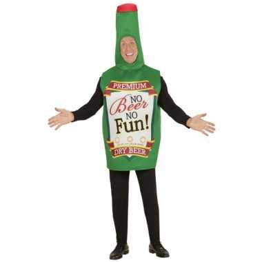 Feest bierfles kostuum groen voor volwassenen