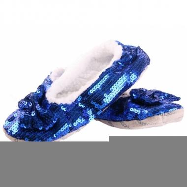 Feest blauwe blingbling sloffen