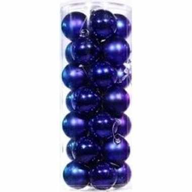 Blauwe kerstballen 28 stuks 6 cm