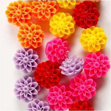Feest bloemkralen voor ketting 20 stuks