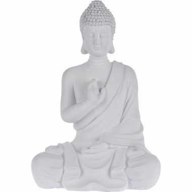 Boeddha Beeld Beton.Boeddha Beeld Zittend 30 Cm
