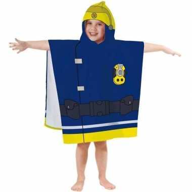 Feest brandweerman sam badponcho handdoek 60 x 120 cm