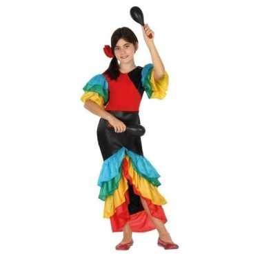 Feest braziliaanse samba rumba danseres verkleed kostuumvoor meisjes