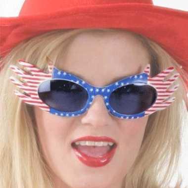 Feest bril met usa vlag
