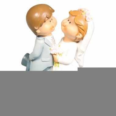 bruidspaar taart decoratie beeldje 11 cm feestwinkel