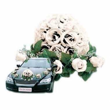 Feest bruiloft rozen decoratie voor auto 10154048