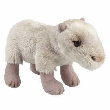 Feest capibaras speelgoed artikelen waterzwijn knuffelbeest beige 15 cm
