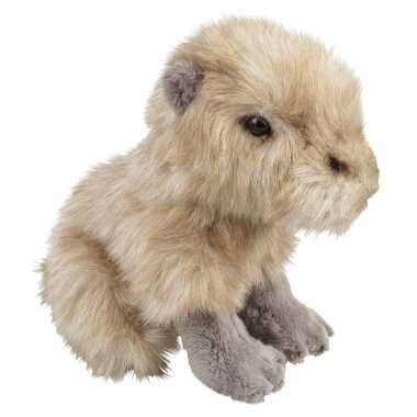 Feest capibaras speelgoed artikelen waterzwijn knuffelbeest beige 18 cm