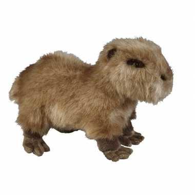 Feest capibaras speelgoed artikelen waterzwijn knuffelbeest bruin 28 cm