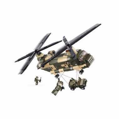 Feest chinook helikopter bouwsteentjes