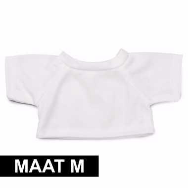 Feest clothies knuffel kado shirt m wit met ruimte voor tekst