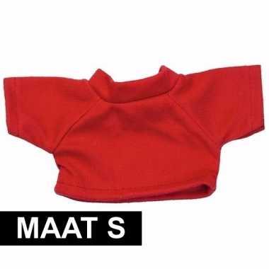 Feest clothies knuffel kado shirt s rood met ruimte voor tekst