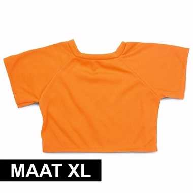 Feest clothies knuffel kado shirt xl oranje met ruimte voor tekst