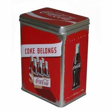 Feest coca cola bewaarblik 3 liter