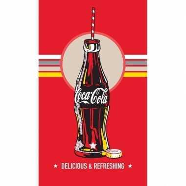 Feest coca cola fles badlaken 70 x 120 cm