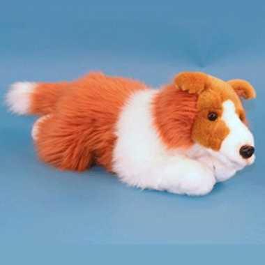 Feest collie pup pluche knuffel 36 cm