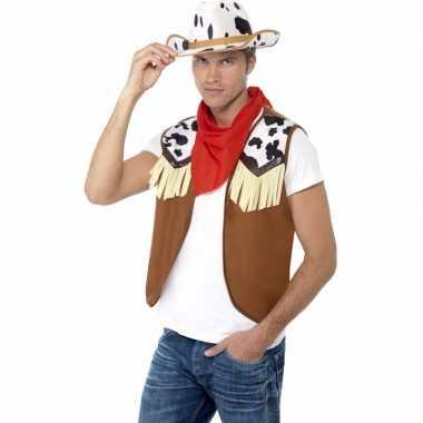 Feest cowboy verkleed set voor heren
