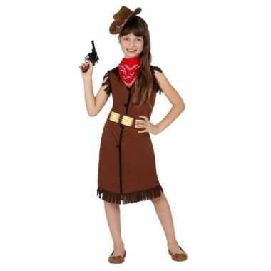 Feest cowgirl cowboy kostuum jurk voor meisjes