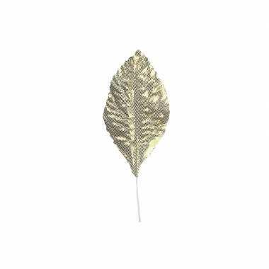 Feest decoratie bladeren goud 12 stuks