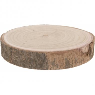 Decoratie boomschijf/pannen onderzetters/kaarsenbord 26 cm