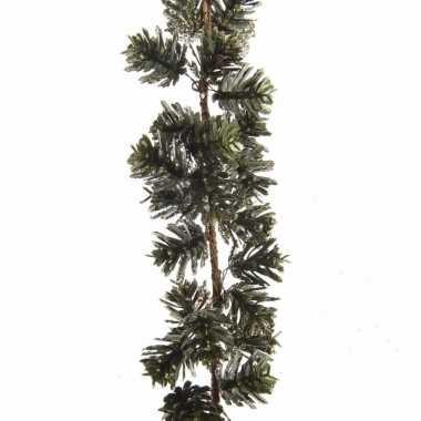 Feest dennentak kunstplant 120 cm groen goud met dennenappels