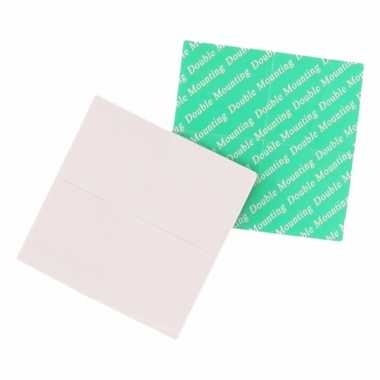 Feest dubbelzijdige tape vierkante stukjes 40 stuks