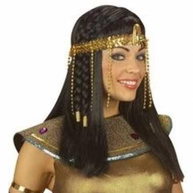 Feest egyptische hoofdband met gouden kralen