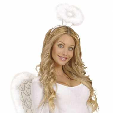 Feest engel aureool wit