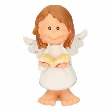 Feest engel met boekje decoratie 10 cm