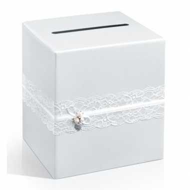 Feest enveloppen doos huwelijk met kant